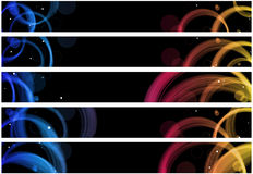 Abstract circles web banner Stock Images