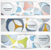 Abstract circles web banners Stock Images