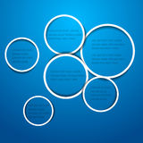 Abstract circles for web design Stock Images