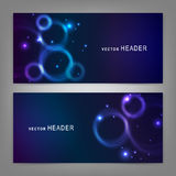 Abstract circles. Website header or banner set Stock Photo