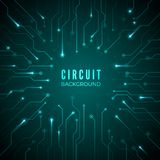 Abstract circuit background. Technological banner. design of microprocessor system. hardware motherboard pattern. Vector Royalty Free Stock Photography