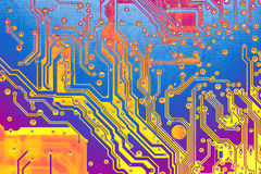 Abstract circuit board. Bright circuit board in abstract colors Stock Photography