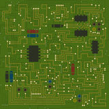 Abstract circuit board texture. Royalty Free Stock Photo