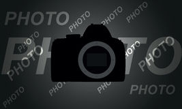 Abstract circuit camera on a gray background. Vector illustration Stock Image