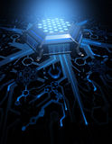 Abstract Circuit Hexagonal Form Royalty Free Stock Photography