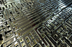 Abstract circuit inside microchip Stock Images