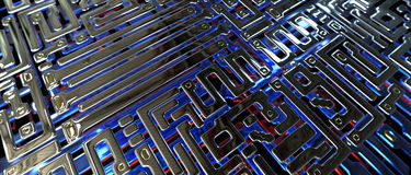 Abstract circuit inside microchip Stock Photography
