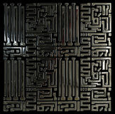 Abstract circuit inside microchip. Abstract background circuit inside microchip Stock Photo