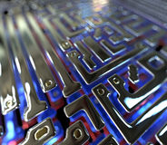 Abstract circuit inside microchip. Abstract background circuit inside microchip Royalty Free Stock Image