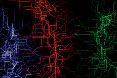 Abstract circuit Royalty Free Stock Images