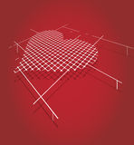 Abstract circuit pixel heart mosaic Royalty Free Stock Photo