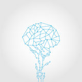 Abstract Circuit and style brain  technology Stock Photo