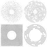 Abstract vector background of concentric circles. Crcular lines. Abstract circular backgrounds. Set of vector elements. Circular frames for text or decoration royalty free illustration