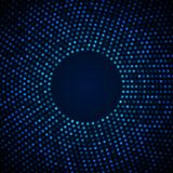 Abstract Circular Blue Background. Royalty Free Stock Photography