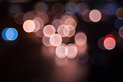Abstract circular bokeh background. Beautiful abstract background of lights Royalty Free Stock Photos