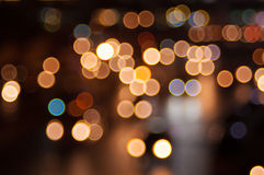 Abstract circular bokeh background. Beautiful abstract background of lights Stock Photography