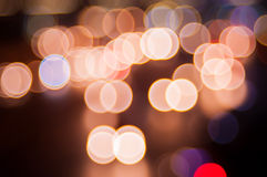Abstract circular bokeh background. Beautiful abstract background of lights Stock Photos