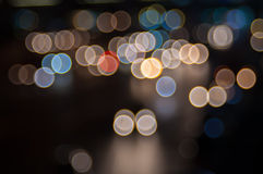 Abstract circular bokeh background. Beautiful abstract background of lights Royalty Free Stock Images