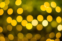 Abstract circular bokeh background of Christmas Day and New Year Stock Image
