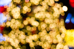 Abstract circular bokeh background of Christmas Day and New Year Royalty Free Stock Image