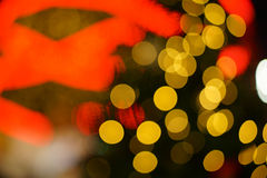 Abstract circular bokeh background of Christmas Stock Images