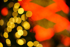 Abstract circular bokeh background of Christmas Stock Photography
