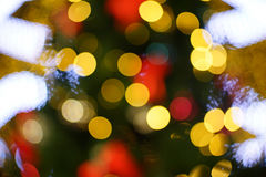 Abstract circular bokeh background of Christmas Royalty Free Stock Images