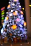 Abstract circular bokeh background of Christmas light. Royalty Free Stock Photos