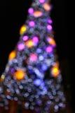 Abstract circular bokeh background of Christmas light. Stock Image