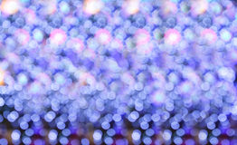 Abstract circular bokeh background of Christmas light. Stock Image