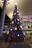 Abstract circular bokeh background of Christmas light. Royalty Free Stock Photography