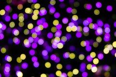 Abstract circular bokeh. Background of Christmas light Stock Photos