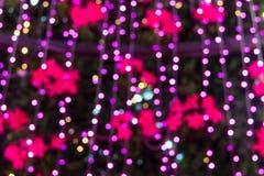 Abstract circular bokeh. Background of Christmas light Royalty Free Stock Photo