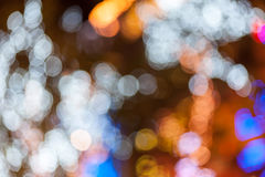 Abstract circular bokeh background of Christmaslight Royalty Free Stock Photography
