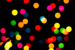 Abstract circular bokeh background of Christmaslight Royalty Free Stock Images