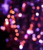 Abstract circular bokeh background of City light in heart image Royalty Free Stock Image