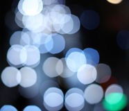 Abstract circular bokeh background of city lights Royalty Free Stock Images