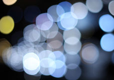 Abstract circular bokeh background of city lights Stock Photography