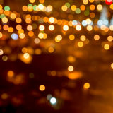 Abstract circular bokeh background, city lights in the twilight Stock Images