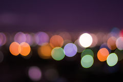 Abstract circular bokeh background. City night light blur bokeh a beautiful background royalty free stock photography