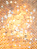 Abstract circular bokeh background. Form honeycomb stock photography