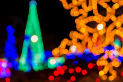 Abstract circular bokeh of Christmas light. In city Royalty Free Stock Image