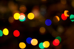 Abstract circular bokeh of christmas lights. For background Stock Images