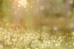 Abstract circular bokeh cold green background Stock Photography