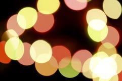 Abstract circular bokeh light background Stock Photography