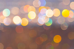 Abstract circular bokeh from light decoration for background Royalty Free Stock Images