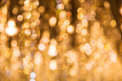 Abstract Circular Bokeh Of Gold Colour For Background Royalty Free Stock Photo