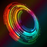 Abstract circular design background. Abstract background of circular design with glowing lights Royalty Free Stock Photos