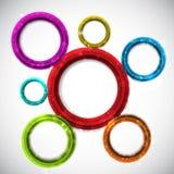 Abstract circular design background Stock Photo