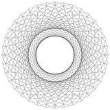 Abstract circular element. Radiating lines forming a geometric c. Ircle. Abstract spiral, swirl motif, mandala Stock Image